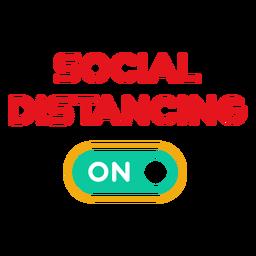 Soziale Distanzierung auf Abzeichen
