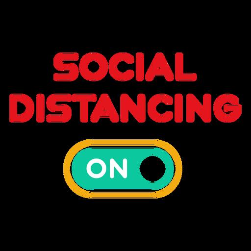 Distanciamiento social en la insignia Transparent PNG