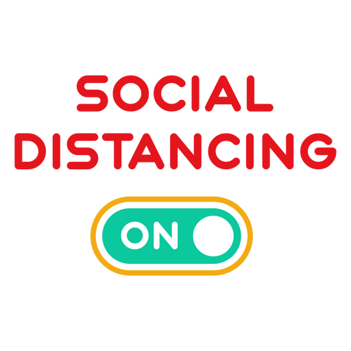 Social distancing on badge Transparent PNG