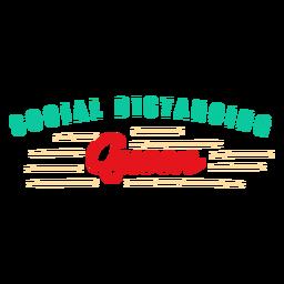 Letras de rainha de distanciamento social