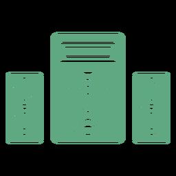 Alto-falantes verde plana