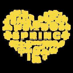 Coração da temporada de primavera