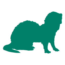 Standing ferret silhouette