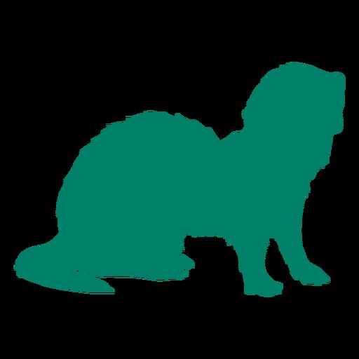 Standing ferret silhouette