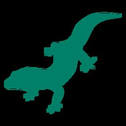 Standing lizard silhouette
