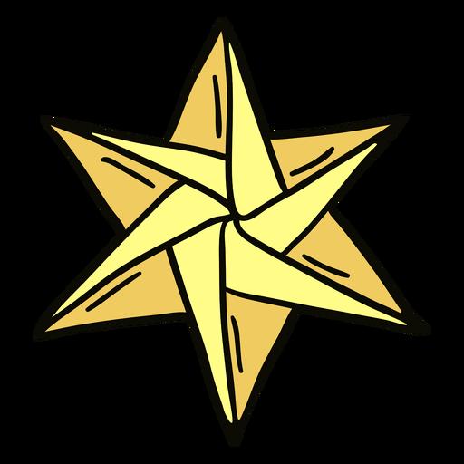 Ilustración de origami estrella Transparent PNG