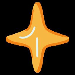 Estrella simple plana