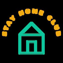 Emblema do clube ficar em casa