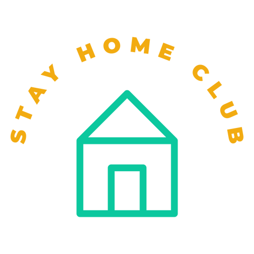 Stay home club badge Transparent PNG