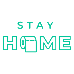 Stay homr badge