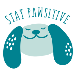 Stay pawsitive badge