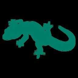 Ainda silhueta de lagarto