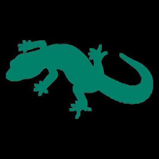 Aún silueta de lagarto