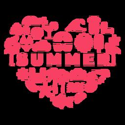 Coração de temporada de verão