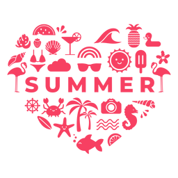 Summer season heart