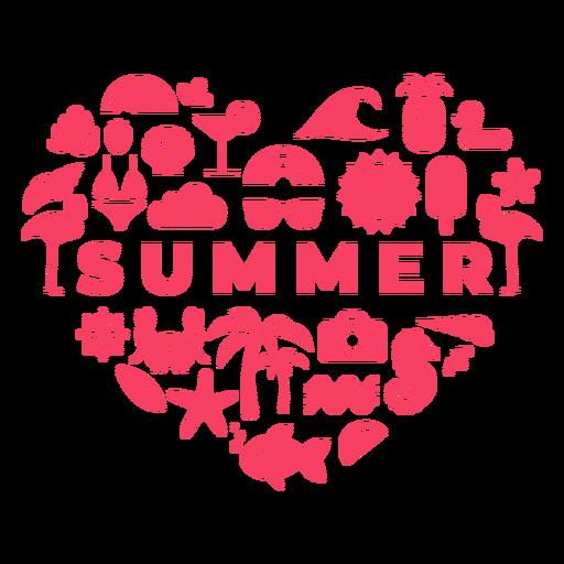 Summer season heart Transparent PNG