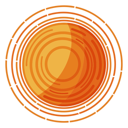 Ilustração da estrela solar