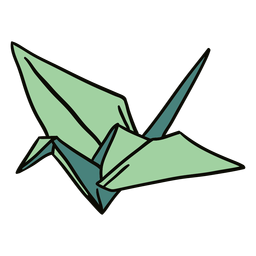 Ilustración de origami cisne
