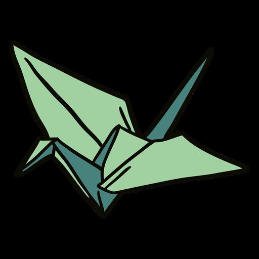 Swan origami illustration