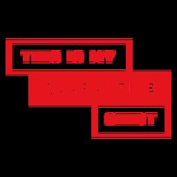 Este é o meu distintivo de camisa de quarentena