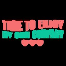 Es hora de disfrutar de las letras de mi propia empresa.