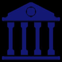 Edificio de la universidad icono azul