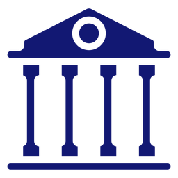 University building icon blue