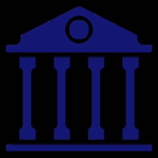 University building icon blue