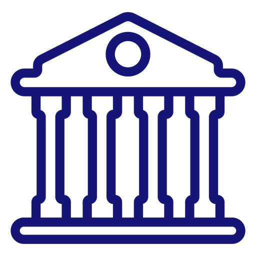 University building icon stroke Transparent PNG