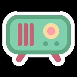 Adesivo plano de rádio vintage