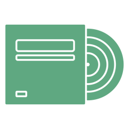 Disco de vinil verde plano