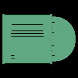 Disco de vinilo plano verde