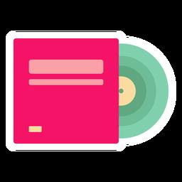 Etiqueta engomada plana del disco de vinilo
