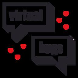 Distintivo de abraços virtuais