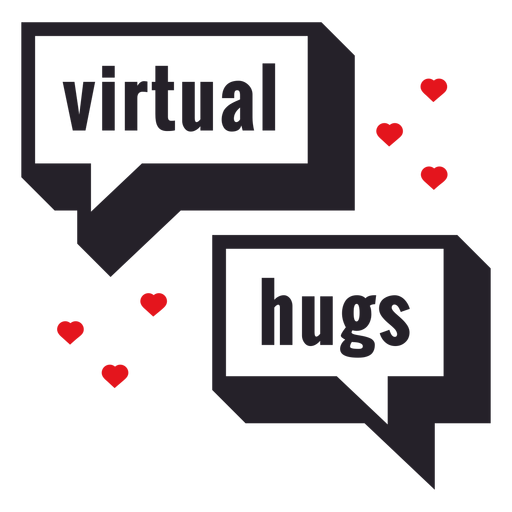 Crachá virtual de abraços