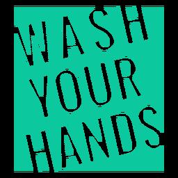 Placa de lavarse las manos