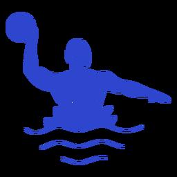 Jugador masculino Waterpolo azul