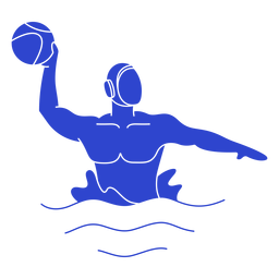 Waterpolo male player blue