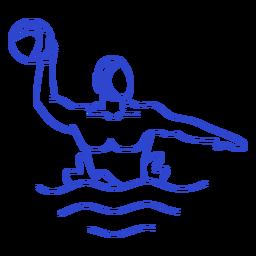 Waterpolo male player stroke