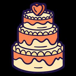 Ilustración de pastel de bodas