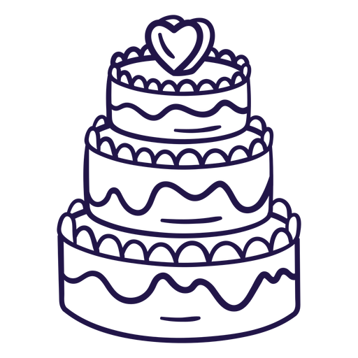 Pastel de boda pastel de trazo