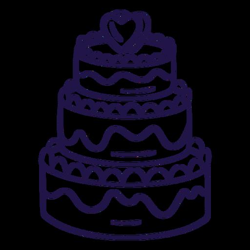 Wedding cake stroke cake