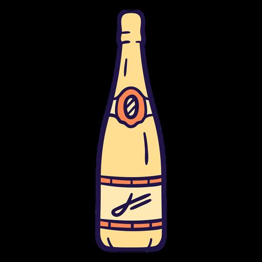 Wedding champagne flat Transparent PNG