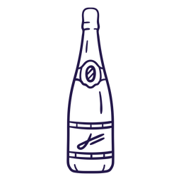 Boda champán trazo champán