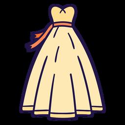 Vestido de novia plano