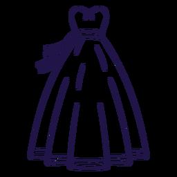 Vestido de novia vestido de trazo