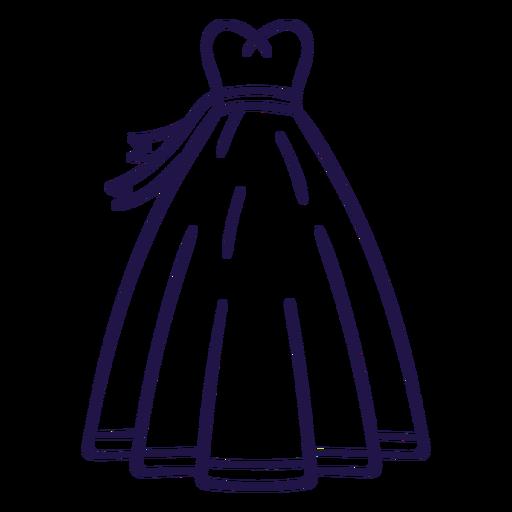 Wedding dress stroke dress Transparent PNG
