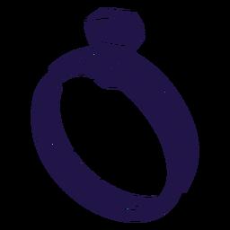 Anillo de boda azul