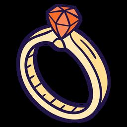 Ilustração de aliança de casamento