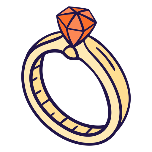 Wedding ring illustration Transparent PNG